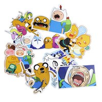 Movie&TV Japanese Egg Adventure Time Stickers For Skateboard Laptop Luggage Phone Home Decoration DIY Toy Sticker No Repeat