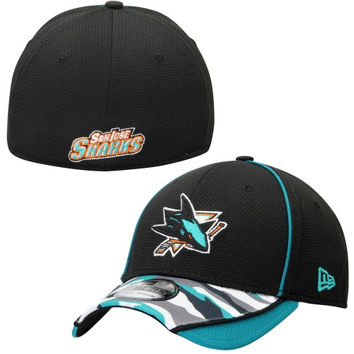 San Jose Sharks New Era 39THIRTY Camstyle Flex Hat – Teal