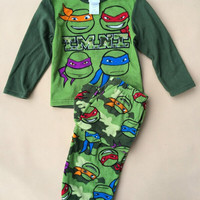 2015 nwe Teenage Mutant Ninja Turtles Children Pijamas Baby Clothing Christmas Kids Pajamas Sleepwear Sets Boys Pajama Pyjamas