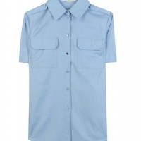 mytheresa.com -  Stella McCartney - SHORT SLEEVE BUTTON-DOWN SHIRT - Luxury Fashion for Women / Designer clothing, shoes, bags