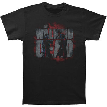 Walking Dead Men's  Axed Zombie T-shirt Black Rockabilia