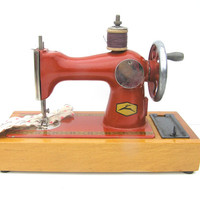 Soviet vintage kids toy sewing machine kids room decor collectibles toys 60s ussr