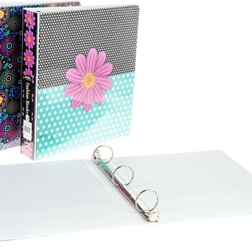 """1.5"""" Fashion Binder with Inner Pockets - CASE OF 12"""