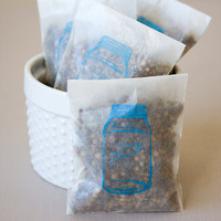 "Edible wedding favors - organic spices in ""Love"" Ball Jar bag by dellcovespices"