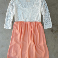 Peach Confections Dress [3953] - $42.00 : Vintage Inspired Clothing & Affordable Summer Frocks, deloom   Modern. Vintage. Crafted.