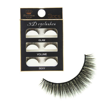 Sexy Thick Long Hot Deal 3D Hot Sale Natural False Eyelashes [6533116359]
