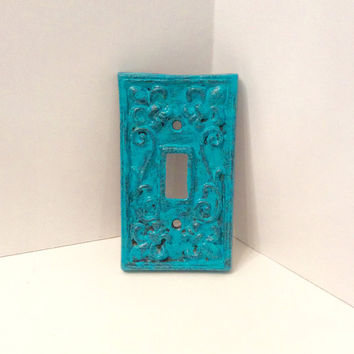 Single Light Switch Plate, Cast Iron Light Switch Cover