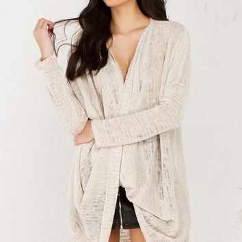 Swoop Front Top in Natural and Blush