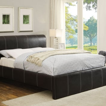 Israel Black PU Queen Bed 25250Q