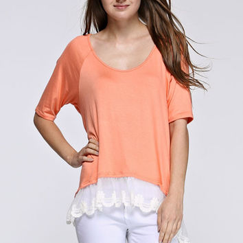 Lace Sorbet Top