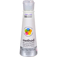 Method Products Fresh and Clean Unscented Detergent - 50 Loads - Case of 6 - 20 oz