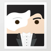 Phantom of the Opera Art Print by heartfeltdesigns by Telahmarie