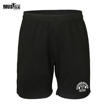 Fitness Men Body building Shorts Cotton Man Workout Short Gyms Clothing Casual Muscle Boy Short