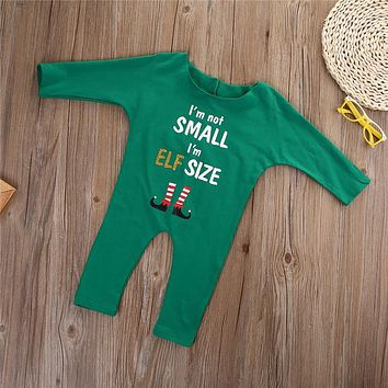 Long Sleeve Baby Rompers Merry Christmas Letter Printing One Piece Jumpsuit Casual Autumn Winter Clothing Newborn Baby Outfit