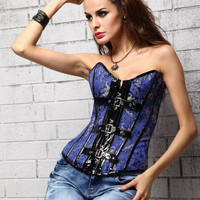 Back Tie-Up Lace Belted Corset