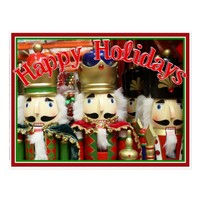 Three Wise Crackers - Nutcracker Soldiers Postcard