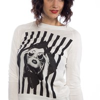 Urbane Dame Long Sleeve T-Shirt - White from On Fire at Lucky 21