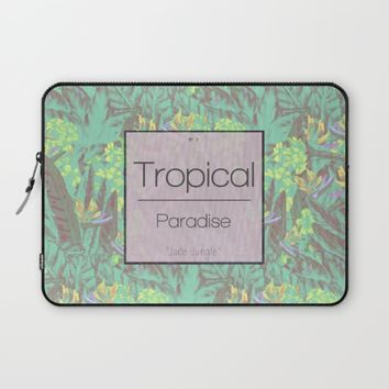 Tropical Paradise: Jade Jungle Laptop Sleeve by Ben Geiger
