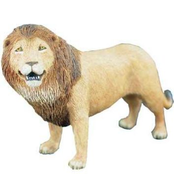 Sandicast Small Size Realistic African Lion Wildlife Sculpture