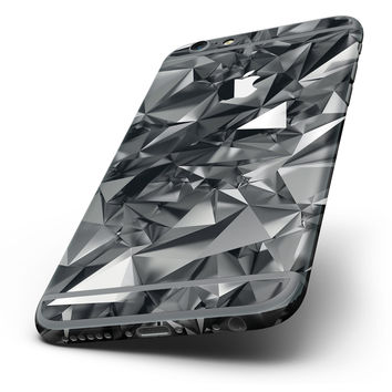 The Black 3D Diamond Surface Six-Piece Skin Kit for the iPhone 6/6s or 6/6s Plus