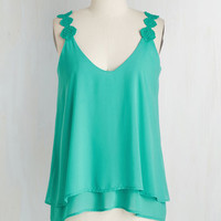 Mid-length Sleeveless They Sway I'm a Dreamer Top by ModCloth