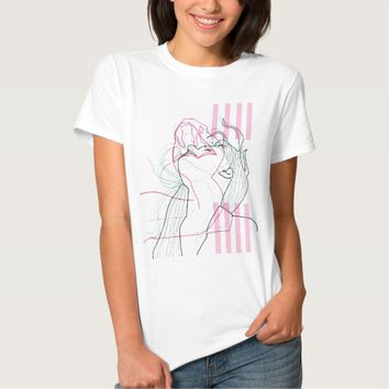 Snake woman design linear psychodelic graphic tshirts