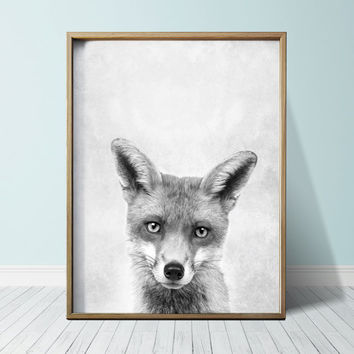 Digital Prints Fox Print Wall Art Prints  Fox Art Cute Animal Nursery Print