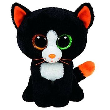 "Pyoopeo Ty Beanie Boos 6"" 15cm Frights Black Cat Plush Stuffed Animal Doll Toy Collectible Big Eyes Puppy Dolls Toys"