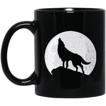 Wolf Howling at Moon Coffee Mug by Living You Co. | Wolf Coffee Mug, Wolf Cup, Wolf Mug