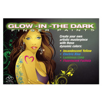 Body Art Glow in the Dark Finger Paints