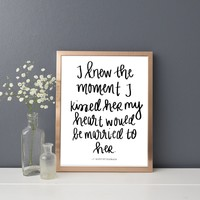 F. Scott Fitzgerald 'Married To Her' Print