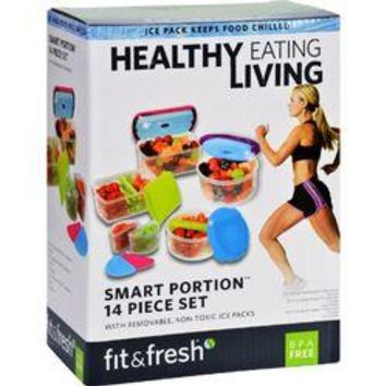 Fit and Fresh Container Set - Healthy Living - Smart Portion - 14 Pieces - 1 Set