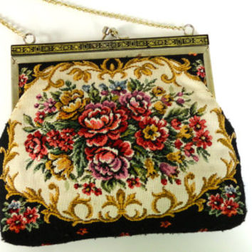 Floral Tapestry Purse Clutch