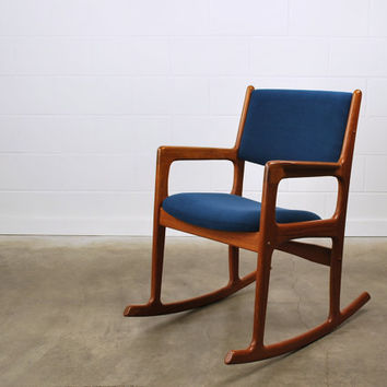 SALE: Danish Modern Teak Rocking Chair