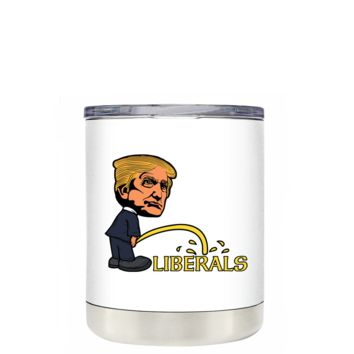 Big Head Trump on Liberals 10 oz Lowball Tumbler