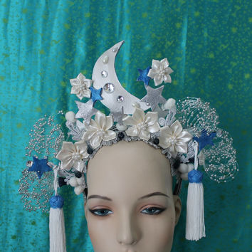 Lunar Headdress - Burlesque headdress - To order