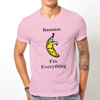 Bananas Fix Everything Pink Tshirt