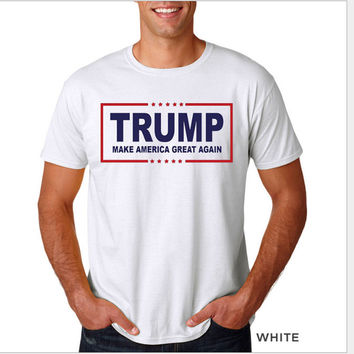 Donald Trump All Over Print T-shirt Top White