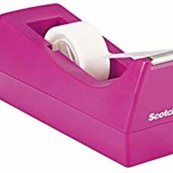 Scotch Classic Desktop Tape Dispenser, Pink, for 1-Inch Core Tapes (C-38-P)