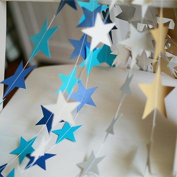 NEW 4M Star Paper Hanging Garlands Tree Christmas Decoration Birthday Wedding Party Decorations