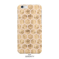 Rose Gold Hexagon iPhone Case, iPhone 6, iPhone 6 Plus, iPhone 5/5s,Samsung Galaxy Case,Faux Rose Gold Honeycomb, Pink, NewSerenityStudio