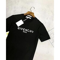 Givenchy 2019 new broken letter print T-shirt black