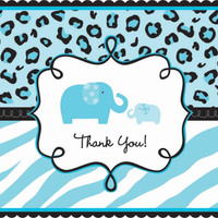 Safari Baby Shower Boy - Thank-You Postcards (20)