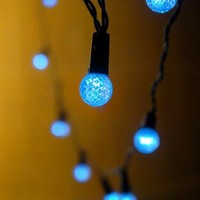 Accents Blue LED String Lights Battery Operated