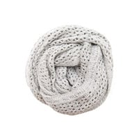 Hat Attack Open Weave Grey Scarf