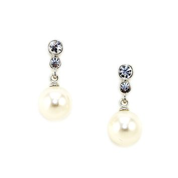 Dainty Pearl Drop Earrings