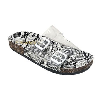CCOCCI Paradise Clear Snake Sandals