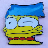 Distorted Marge Simpson 1-inch Enamel Lapel Pin