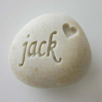 Custom Engraved Pet Memorial White Light Grey Stone Dog Cat Pet Loss Pocket Rock