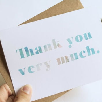 Turquoise & Peach Watercolor Thank You Cards // Wedding Stationery // Wedding Thank You Cards // Baby Shower Thank You Cards